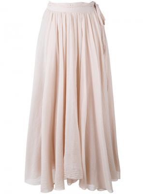 Плиссированная юбка Forte. Цвет: розовый и фиолетовый