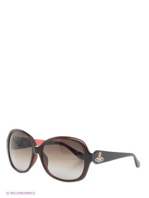 Солнцезащитные очки VW 729 A2 Vivienne Westwood. Цвет: коричневый