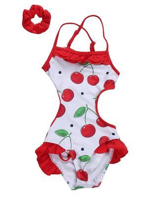 Купальник Sweet Berry. Цвет: красный, белый