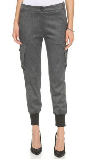 Универсальные брюки карго с напуском James Jeans. Цвет: угольная фланель
