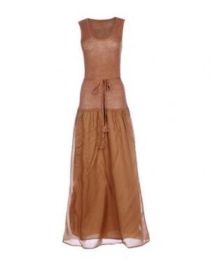 Длинное платье SUOLI. Цвет: коричневый