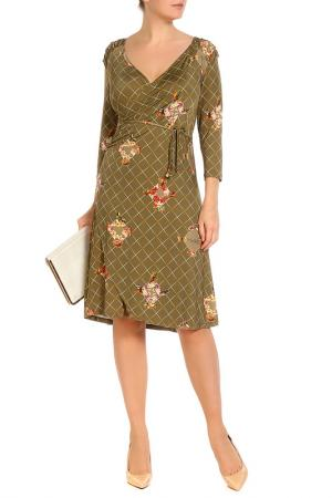 Платье LOLA PALTINGER. Цвет: оливковый