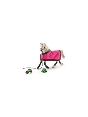 Арабская кобыла с покрывалом SCHLEICH. Цвет: белый, розовый