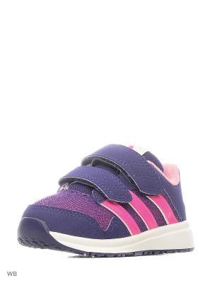 Кроссовки дет. спорт. Snice 4 CF I  CPURPL/SHOPIN/FTWWHT Adidas. Цвет: фиолетовый, розовый