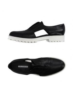 Низкие кеды и кроссовки LEA FOSCATI. Цвет: черный