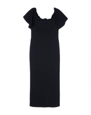 Платье длиной 3/4 GRETA CONSTANTINE. Цвет: черный