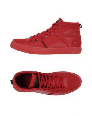 Высокие кеды и кроссовки MONTEFIORI. Цвет: красный