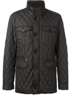 Стеганая куртка Hackett. Цвет: коричневый