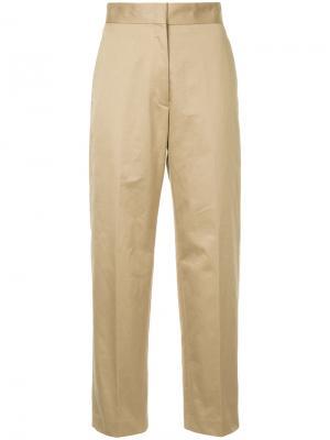Зауженные брюки с высокой талией H Beauty&Youth. Цвет: коричневый