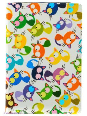 Визитница Цветные кошки - мешанина Mitya Veselkov. Цвет: молочный, зеленый, красный, синий