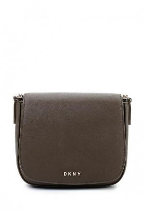 Сумка DKNY. Цвет: хаки