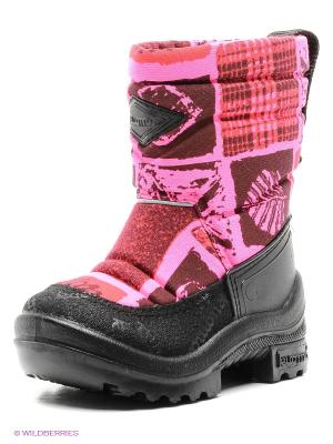 Сапоги KUOMA. Цвет: розовый, черный, бордовый