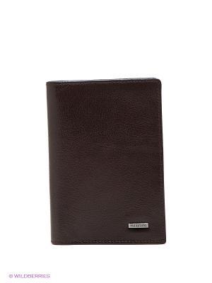 Обложка для паспорта Malgrado. Цвет: темно-коричневый