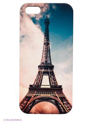 Чехол для IPhone 5 Эйфелева башня Mitya Veselkov. Цвет: синий, бледно-розовый, черный, коричневый