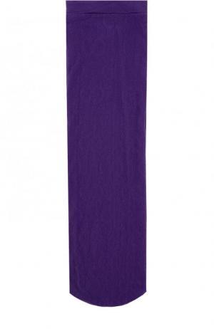Однотонные носки с логотипом бренда Gucci. Цвет: фиолетовый