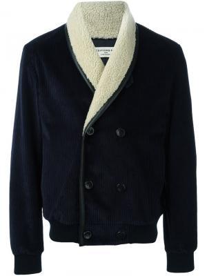 Куртка-бомбер в рубчик Éditions M.R. Цвет: синий