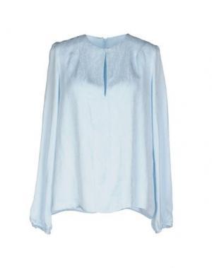 Блузка JO NO FUI. Цвет: небесно-голубой