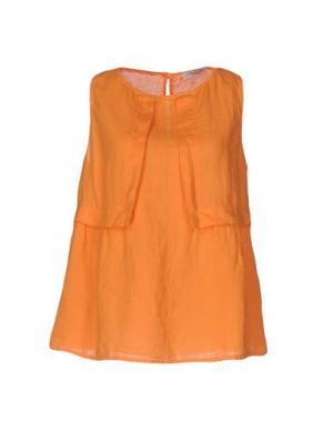 Топ без рукавов LA FABBRICA DEL LINO. Цвет: оранжевый