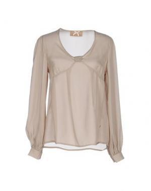 Блузка ATELIER FIXDESIGN. Цвет: бежевый