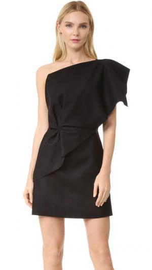 Платье с открытым плечом и оборками Jacquemus. Цвет: голубой