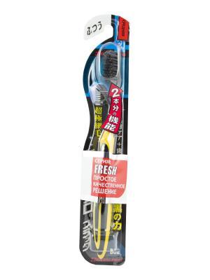 Зубная щетка Black Ultra Slim Plus средняя жесткость DENTALPRO. Цвет: желтый