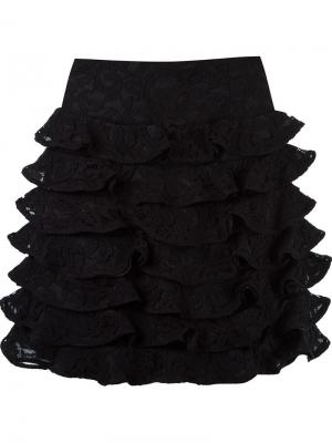 Ruffled silk skirt Martha Medeiros. Цвет: чёрный