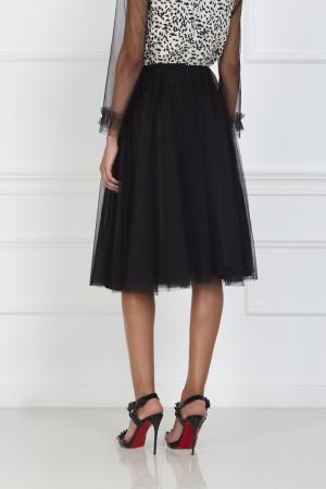 Однотонная юбка VIKTORIA IRBAIEVA. Цвет: черный