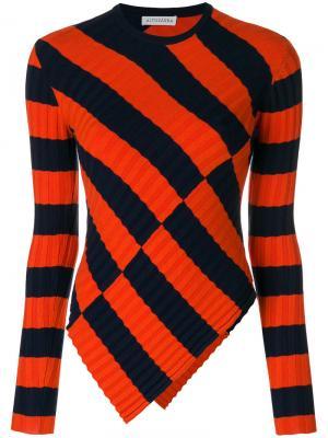Асимметричный свитер в полоску Altuzarra. Цвет: синий