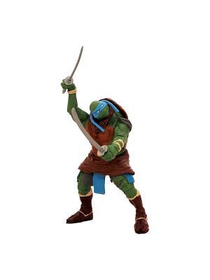 Фигурка функцион. Черепашки-ниндзя 14см, Леонардо, серия Movie Line Playmates toys. Цвет: зеленый, красный, оранжевый