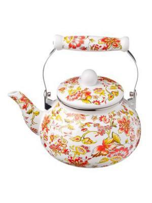 Чайник эмалированный 2,5л, 3 дизайна Vetta. Цвет: белый