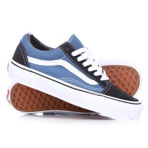 Кеды кроссовки  Old Skool Navy Vans. Цвет: синий,черный
