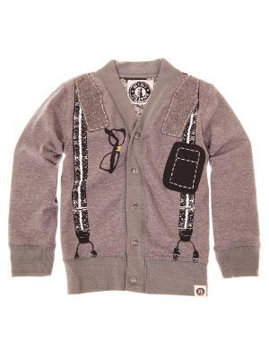 Кардиган Bowtie Suspender Cardigan Mini Shatsu. Цвет: серо-коричневый, черный