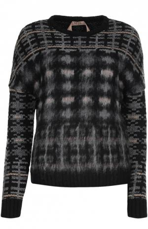 Вязаный пуловер No. 21. Цвет: серый