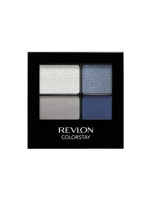 Тени для век четырехцветные Colorstay Eye16 Hour Eye Shadow Quad, Passionate 528 Revlon. Цвет: темно-синий