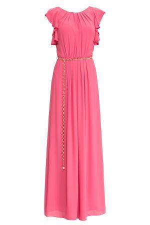 Платье с поясом 157376 Access. Цвет: розовый