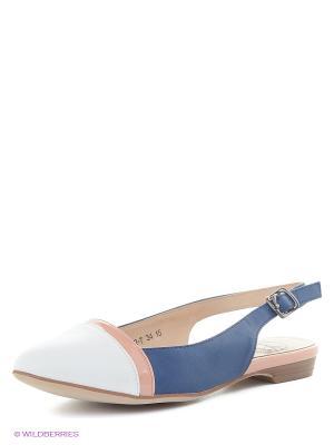 Балетки Bagira. Цвет: синий, персиковый, белый