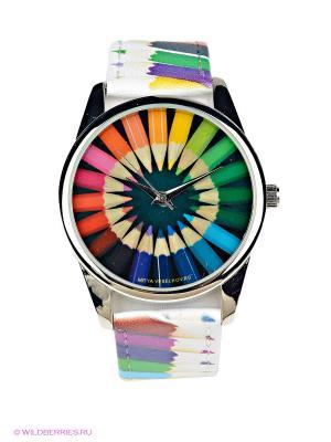 Часы Mitya Veselkov. Цвет: зеленый, белый