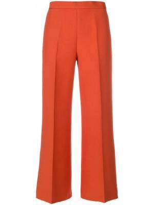 Укороченные брюки со складками Fendi. Цвет: жёлтый и оранжевый