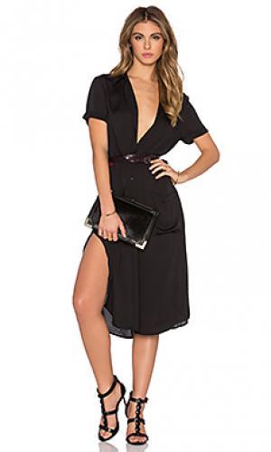 Платье-рубашка LAcademie L'Academie. Цвет: черный