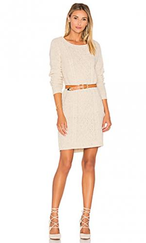 Платье свитер macey BB Dakota. Цвет: беж