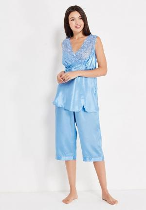 Пижама Belweiss. Цвет: голубой