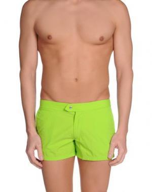 Шорты для плавания DAVID NAMAN. Цвет: светло-зеленый