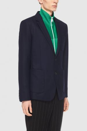 Костюмный пиджак Ami. Цвет: синий