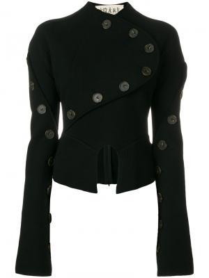 Пиджак с пуговицами A.W.A.K.E.. Цвет: чёрный
