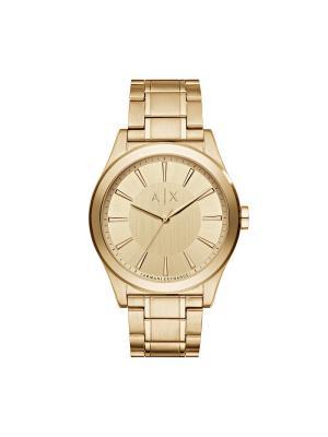 Часы Armani Exchange. Цвет: золотистый, красный