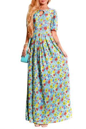 Платье FRANCESCA LUCINI. Цвет: лайм