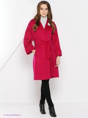 Пальто Estrade. Цвет: малиновый