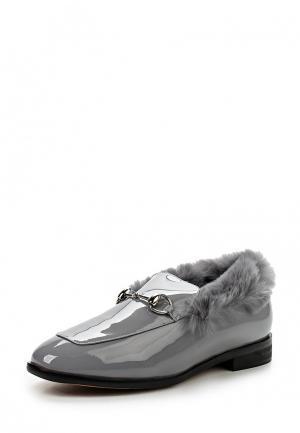Лоферы Grand Style. Цвет: серый