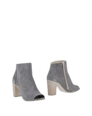 Полусапоги и высокие ботинки FABRIZIO CHINI. Цвет: серый