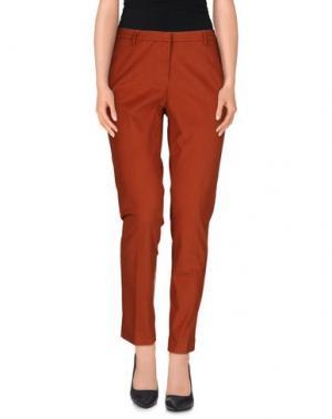 Повседневные брюки TRUE ROYAL. Цвет: ржаво-коричневый